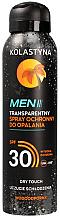 Парфюми, Парфюмерия, козметика Слънцезащитен спрей за мъже - Kolastyna Suncare Men Spray SPF 30
