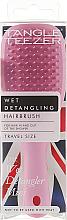 Парфюмерия и Козметика Четка за коса - Tangle Teezer The Wet Detangler Mini Baby Pink Sparkle
