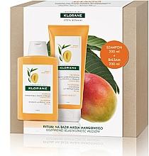 Парфюмерия и Козметика Комплект за коса - Klorane Mango (шамп./200ml + балсам/200ml)