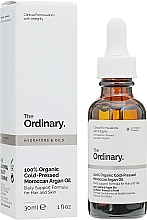 Парфюмерия и Козметика Органично студено пресовано мароканско арганово масло за лице - The Ordinary 100% Organic Cold-Pressed Moroccan Argan Oil