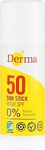 Парфюмерия и Козметика Слънцезащитен стик - Derma Sun Sun Stick High SPF50