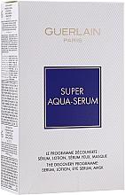 Комплект за лице - Guerlain Super Aqua Serum Set (серум/50ml + околоочен серум/5ml + маска/1бр + лосион/15ml) — снимка N1