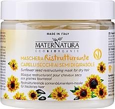 Парфюмерия и Козметика Възстановяваща и подхранваща маска за коса - MaterNatura Sunflower Seeds Restoring Mask