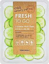 Парфюмерия и Козметика Освежаваща памучна маска за лице с краставица - Tony Moly Fresh To Go Mask Sheet Cucumber