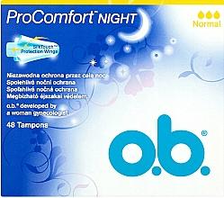Парфюмерия и Козметика Дамски тампони, 48 бр. - O.b. ProComfort Night Normal