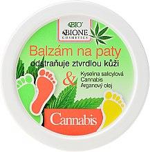 Парфюмерия и Козметика Омекотяващ балсам за пети с коноп - Bione Cosmetics Cannabis Heel Balm Removes Hard Skin