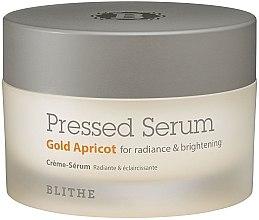 Парфюмерия и Козметика Крем-серум за лице - Blithe Pressed Crystal Gold Apricot Serum