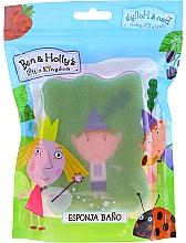 """Парфюмерия и Козметика Детска гъба за баня """"Бен и Холи"""", Бен, зелено-розова - Suavipiel Ben & Holly Bath Sponge"""