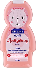 Парфюмерия и Козметика Измиващ гел за коса, тяло и лице с аромат на бонбони - On Line Le Petit Candy 3 In 1 Hair Body Face Wash