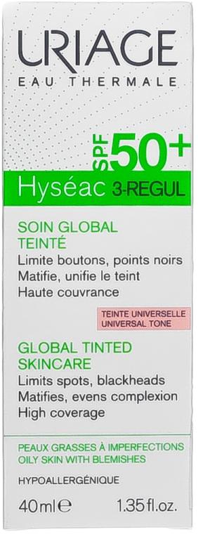 Тониращ крем за мазна кожа - Uriage Hyseac 3-Regul Global Tinted Skincare SPF50 — снимка N1