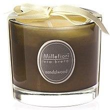 """Парфюми, Парфюмерия, козметика Ароматна свещ """"Сандалово дърво"""" - Millefiori Milano Via Brera Candle Sandalwood"""