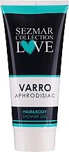 Парфюмерия и Козметика Душ гел 2в1 за коса и тяло - Hrisnina Cosmetics Sezmar Collection Love Varro Aphrodisiac Hair & Body Shower Gel
