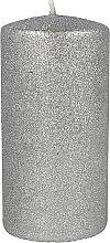 Парфюмерия и Козметика Декоративна свещ, сребриста, 7х10см - Artman Glamour
