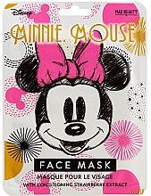 Парфюмерия и Козметика Памучна маска за лице с омекотяващ ефект - Mad Beauty Disney Minnie Mouse Magic Sheet Face Mask