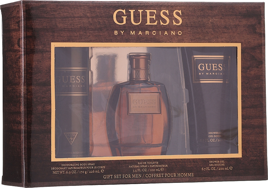 Guess by Marciano - Комплект (тоал. вода/100ml + душ гел/200ml + део/226ml)