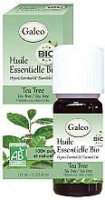 Парфюмерия и Козметика Органично етерично масло от чаено дърво - Galeo Organic Essential Oil Tea Tree