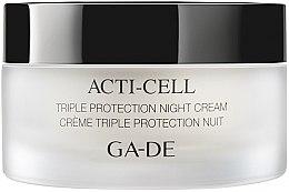 Парфюми, Парфюмерия, козметика Нощен крем с тройна защита - Ga-De Acti-Cell Triple Protection Night Cream