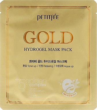 Хидрогелна маска за лице с златен комплекс +5 - Petitfee&Koelf Gold Hydrogel Mask Pack +5 Golden Complex — снимка N1