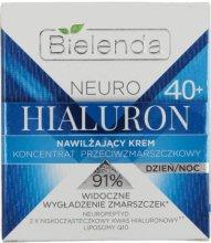Парфюми, Парфюмерия, козметика Овлажняващ крем-концентрат против бръчки 40+ - Bielenda Neuro Hialuron Moisturizing Anti-wrinkle Cream-concentrate