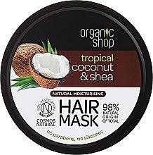 """Парфюми, Парфюмерия, козметика Маска за коса """"Tropical"""" - Organic Shop Coconut & Shea Moisturising Hair Mask"""