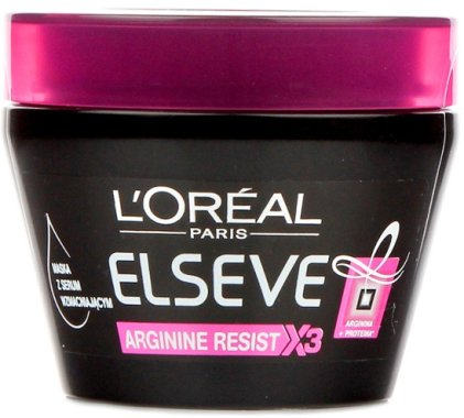 """Маска с укрепващ серум за коса """"Силата на Арганина X3"""" - L'Oreal Paris Elseve Arginina Resist X3"""