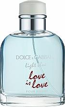 Парфюмерия и Козметика Dolce & Gabbana Light Blue Love is Love Pour Homme - Тоалетна вода