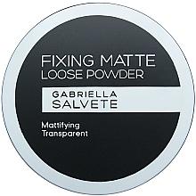 Парфюмерия и Козметика Матираща пудра - Gabriella Salvete Fixing Matte Loose Transparent Powder