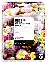 """Парфюми, Парфюмерия, козметика Памучна маска за лице """"Мангостин"""" - Superfood For Skin Balancing Sheet Mask"""