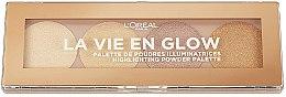 Парфюми, Парфюмерия, козметика Палитра хайлайтъри - L'Oreal Paris La Vie En Glow Highlighting Powder Palette