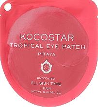 Парфюмерия и Козметика Хидрогелни пачове за очи и с питая - Kocostar Tropical Eye Patch Pitaya