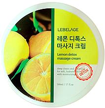 Парфюмерия и Козметика Масажен крем за тяло - Lebelage Lemon Detox Massage Cream