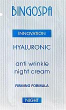 Парфюми, Парфюмерия, козметика Хиалуронов нощен крем против бръчки - BingoSpa Hyaluronic Anti Wrinkle Night Cream (тестер)