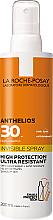 Парфюмерия и Козметика Ултра лек слънцезащитен спрей за лице и тяло SPF30+ - La Roche-Posay Anthelios Invisible Spray