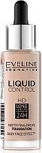 Парфюмерия и Козметика Течен фон дьо тен - Eveline Cosmetics Liquid Control HD Mattifying Drops Foundation (тестер)