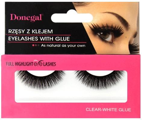 Donegal Eyelashes - Изкуствени мигли с включено лепило 4476 — снимка N1