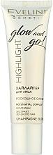 Парфюмерия и Козметика Течен хайлайтър за лице - Eveline Cosmetics Highlight Glow And Go