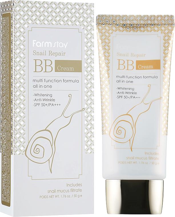 BB-крем със секрет от охлюв SPF 50+ - FarmStay Snail Repair BB Cream SPF 50+