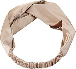 """Парфюмерия и Козметика Лента за глава от естествена коприна, златна """"Twist"""" - Makeup Hairband Twist Gold"""