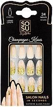 Парфюми, Парфюмерия, козметика Комплект изкуствени нокти - Sosu by SJ False Nails Long Stiletto Champagne Kisses