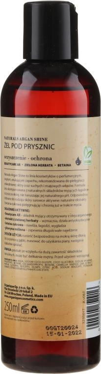 Душ гел за суха и чувствителна кожа - Organique Naturals Argan Shine — снимка N2