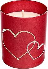 Парфюмерия и Козметика Декоративна свещ, червена, 8х9,5см - Artman Forever Glass