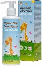 Парфюмерия и Козметика Органичен детски крем с течен талк - Azeta Bio Organic Baby Liquid Talcum