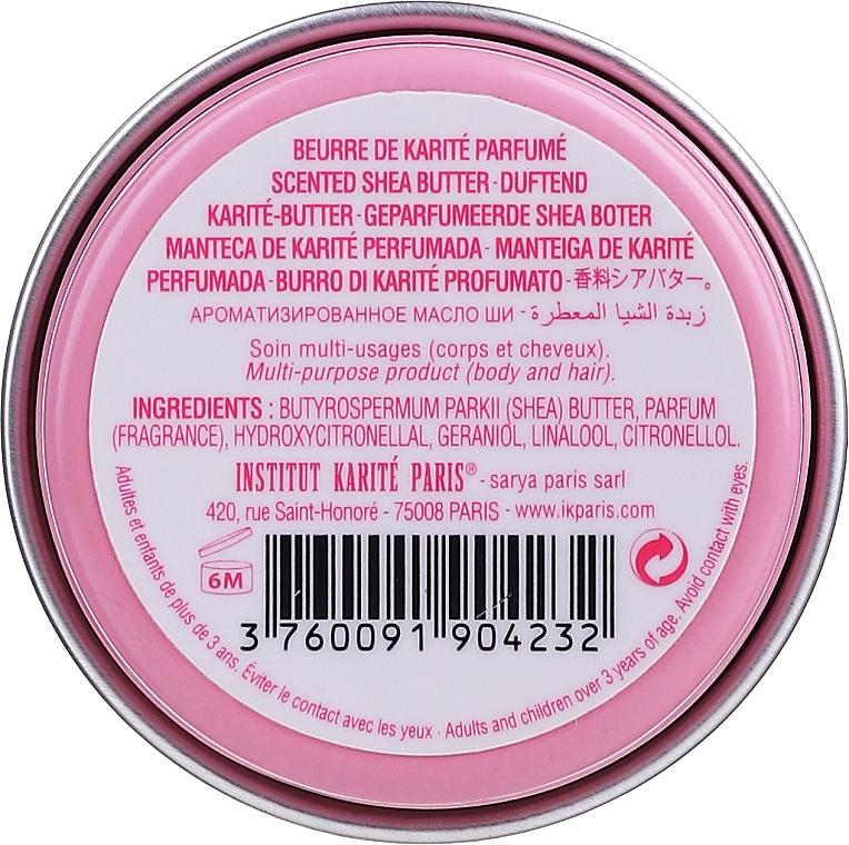 Комплект - Institut Karite Rose Mademoiselle (сапун/100g + крем/30ml + масло/10ml + свещ/1 бр. + конф. + кутия) — снимка N5