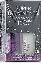Парфюми, Парфюмерия, козметика Комплект блясък+матов фиксатор - CND Super Treatments