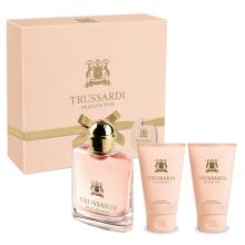 Парфюми, Парфюмерия, козметика Trussardi Delicate Rose - Комплект (тоал. вода/30ml + лосион за тяло/30ml x 2)