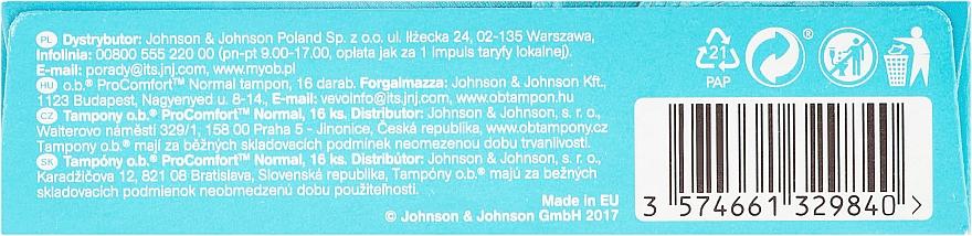 Дамски тампони, 16 бр - o.b. ProComfort Normal Tampons — снимка N2