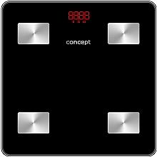Парфюмерия и Козметика Електронен смарт кантар VO4001, черен - Concept Body Composition Smart Scale