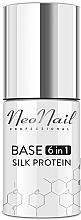 Парфюмерия и Козметика База за гел лак 6 в 1 с копринени протеини - NeoNail Professional Base 6in1 Silk Protein