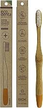 Парфюмерия и Козметика Бамбукова четка за зъби, средна твърдост, оранжева - Ecodenta Bamboo Toothbrush Medium