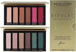 Парфюмерия и Козметика Комплект палитри сенки за очи - Makeup Revolution Kitulec #BlendKitulca Shadow Palette (2xsh/palette/7.8g)